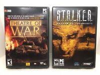 PC CD-Rom Game Bundle Lot 2 Games Theatre Of War & Stalker Shadow Of Chernobyl