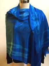 Ralph Lauren women equestrian royal blue silk rectangle scarf