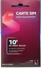 Sfr sim card without commitment 10 € credit included
