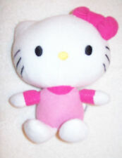 LOT # 745 HELLO KITTY with PINK RIBBON Plush Animal (FIESTA 2011) 6-inches tall