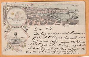 Hilsen fra Hammerfest Norway 1894 Postcard Mailed