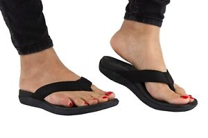 Pro 11 wellbeing Orthotic sandals with great arch support (Black)