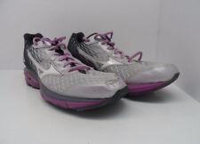 Mizuno Women's Wave Rider 19 Running Shoe Lilac Marble/White Size 9M