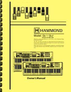 Hammond SK1 SK2 Keyboard OWNER'S MANUAL