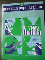 American Popular Piano Etudes Book 3 by Christopher Norton *NEW*