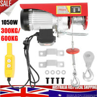 Electric Hoist Winch Crane Garage Ceiling Wire Rope Lift Overhead 300/600KG New