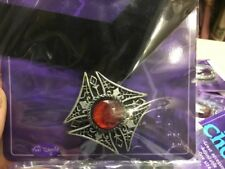 Halloween Dracula Red Gem Choker Necklace Costume Cosplay Larp Fancy Dress Witch