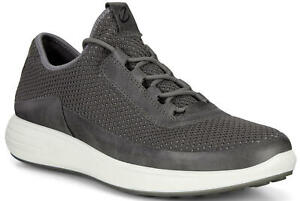 ECCO Men's Soft 7 Runner Mesh Sneaker Shoes Titanium Size EU 43 (US 9 - 9.5) NEW