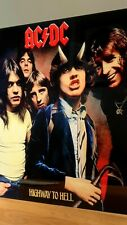 More details for ac/dc highway to hell 12x12 inch metal sign