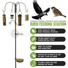More details for wild bird feeding station for hanging feeders garden water bath table seed tray