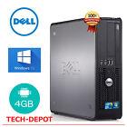 Dell Desktop PC Tower Computer Windows 10 Core 2 Duo 4GB RAM 250GB HD FAST