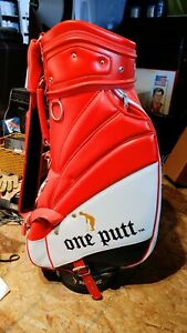 Ameriwest Tour Series Red, White and Blue 6 Pocket One Putt Leather Golf Bag