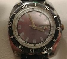 Vintage CORDURA Sea Gull Divers Automatic Day Date Watch 1960s