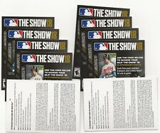 (10) 2018 Topps Series 2 MLB The Show Codes Unused Unredeemed  PS4 Playstation