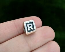 Pandora Letter R Initial Sterling Silver Charm #790323 Alphabet Bead Signed ALE