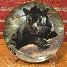 Collector Plate by Franklin Mint - Silent Watch - Black Jaguar Panther