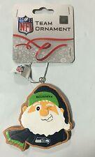 Seattle Seahawks Gingerbread Winking SANTA Christmas Tree Holiday Ornament