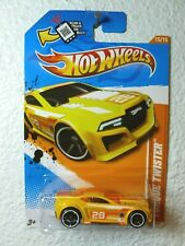 YELLOW ENAMEL 2012 Hot Wheels TORQUE TWISTER #80 - Track Stars '12