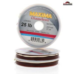 3 Wheel Maxima Chameleon Fly Fishing Leader Tippet 25lb Line ~ NEW