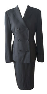 Tom Ford for GUCCI WOMENS Gray Stretch Wool Skirt Suit 40 38 4 6 Career Work