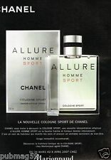 Publicité advertising 2007 Eau De Cologne Allure Homme de Chanel Marionnaud