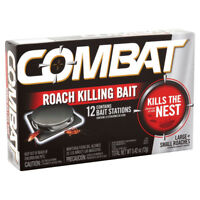 Combat MAX 12 ROACH KILLING BAIT STATION Kills The Nest LARGE & SMALL ROACHES
