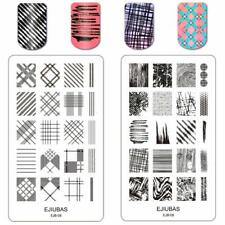 Ejiubas Double Sided Fall Textures Nail Art Stamping Plate Template EJB-08