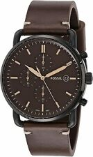 Fossil Men's FS5403 The Commuter Brown Leather Chronograph Watch
