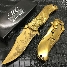 Master Collection All GOLD Mermaid Titanium Blade Pocket Collectible Knife