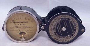 L.M.T. (Le Materiel Telephonique) Light Meter Diaphragmes Cinema French c.1934