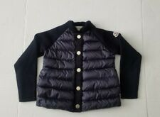 Moncler Kids Padded Puffer Jacket Down Wool Navy Blue Size 6