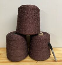 Yarn Lot 3+ Taupe Rayon Boucle Cones -  Rayolla- Knitting, Weaving 6 Pounds!