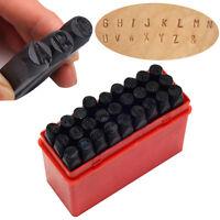 Letter Stamp Punch Set Hardened Steel Metal Alphabet Letter Wood Leather Tool