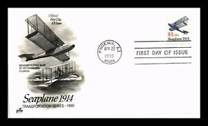 DR JIM STAMPS US TRANSPORTATION COIL SEAPLANE ART CRAFT UNSEALED FDC COVER