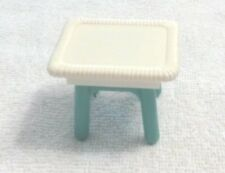 Fisher Price Loving Family Dollhouse Wicker Blue and White Table