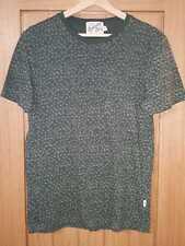 Mens T-Shirt - size XS - Topman green flower print/pattern