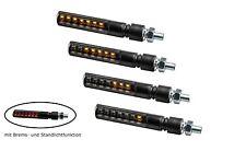 4 x LED motocicleta Blinker secuencial de ejecución efecto negro quad trike ATV Roller