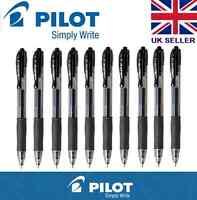 10 x Pilot G2 Retractable Rollerball Gel Ink Pen 0.7mm BLACK CHEAP