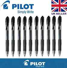 10 X G2 piloto Retráctil Rollerball Gel pluma de tinta 0.7mm Negro Barato
