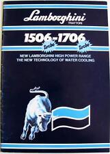 LAMBORGHINI 1506-1706 Turbos Tractor Sales Brochure May 1986 #COD.308.1034.3.2