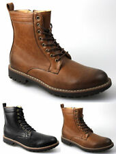 Men's Lace Up Cowboy Synthetic Leather Boots