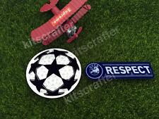 Old Champion League 11-12 Soccer Sleeve Patch Set Respect 2011-2012 Blue Version