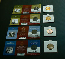 2001 4x $1 Australian Army C S Mintmark Royal Navy Air Force coin set WWI WWII