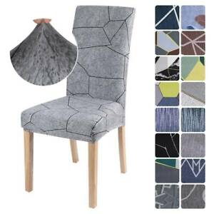 1/4PCS Geometric Stretch Dining Chair Seat Covers Party Slipcover Home Decor Hot