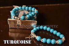 Elegant Turquoise Rosary Bracelet