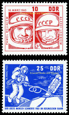 EBS East Germany DDR 1965 Voskhod 2 - First Space Walk - Michel 1098-1099 MNH**