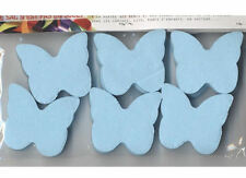 Confettis papillons bleu arctique en papier de soie ignifugé 50 grammes decor