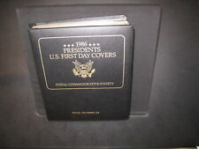 1986 Presidents US First Day Covers Collection In PCS Binder