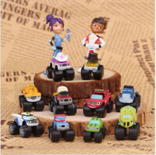 Blaze And The Monster Machines Vehicle Figure 12 PCS Cake Topper Kids Gift Toys