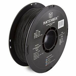 HATCHBOX 3D PLA 3D Printer Filament 1kg Spool Black 1.75mm 3D Printing Spool Not